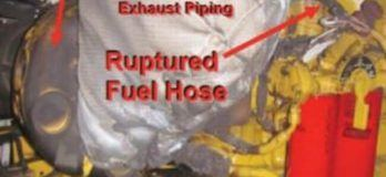 Real Life Incident: Fuel Spray On Hot Surface Leads To Fire In Ship's Engine Room