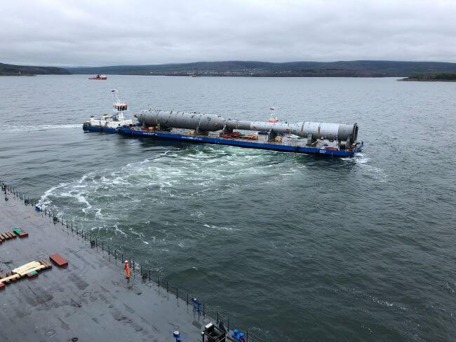 180925 Gazprom Amur GPP Project - barge transport