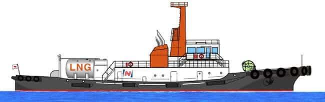 lng fueled tugboat