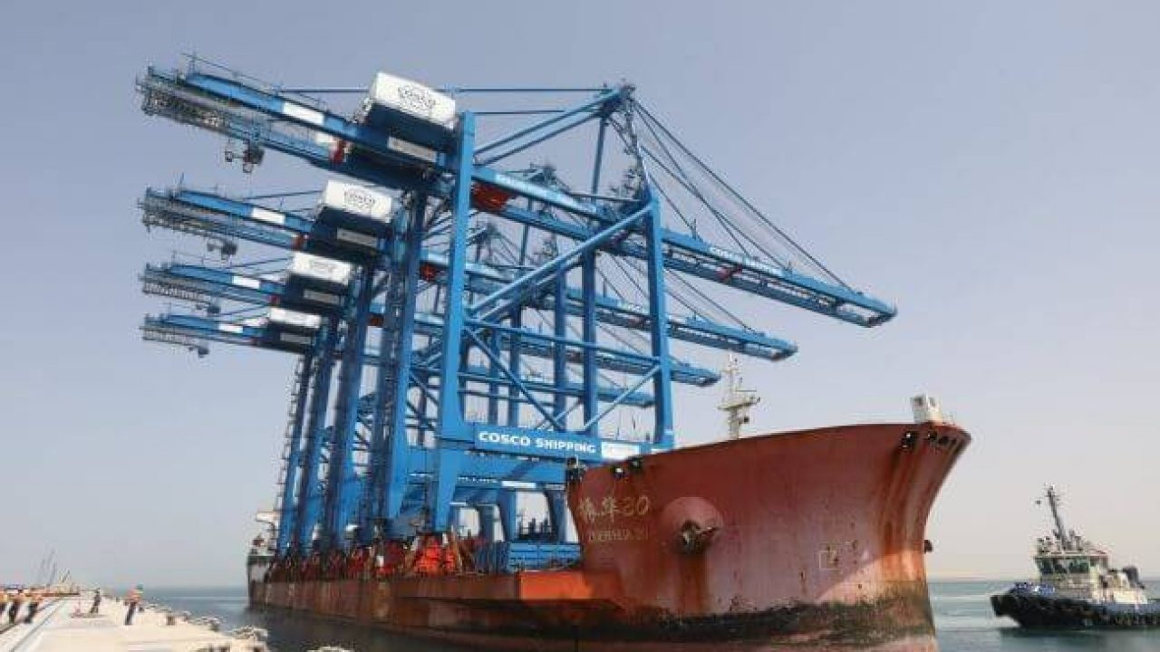 Khalifa Port Receives First ARMG & STS Cranes For COSCO