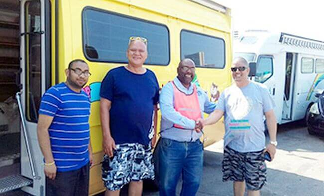 MOL Pledges Assistance in Ocean Transport of Mobile Library