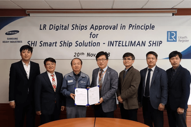 SHI receives AiP from LR for INTELLIMAN smart ship solution.