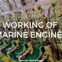 Marine Engine working
