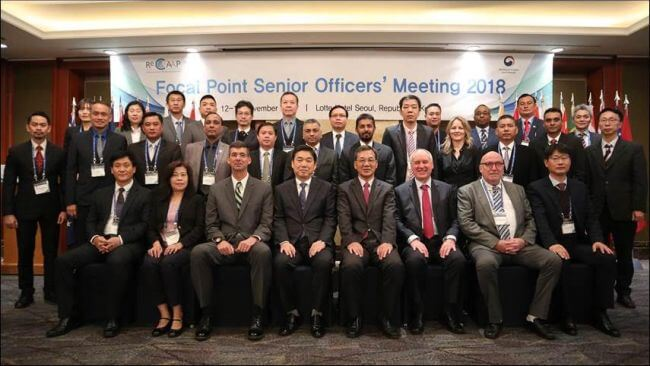 The participants of the ReCAAP ISC Focal Point Senior Officers' Meeting come from 16 ReCAAP Member States