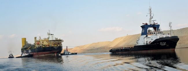 The new Suez Canal experienced one of the hardest passage