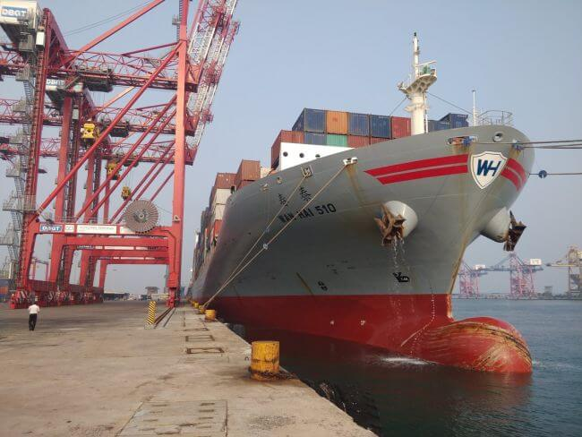 Photos: India Flags Off First Container Mainline Vessel At