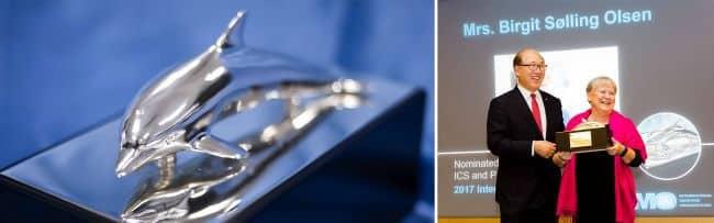 International Maritime Prize presented to Mrs. Birgit Sølling Olsen