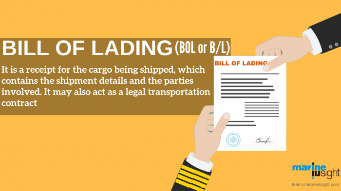 bill of lading in shipping  importance  purpose  and types