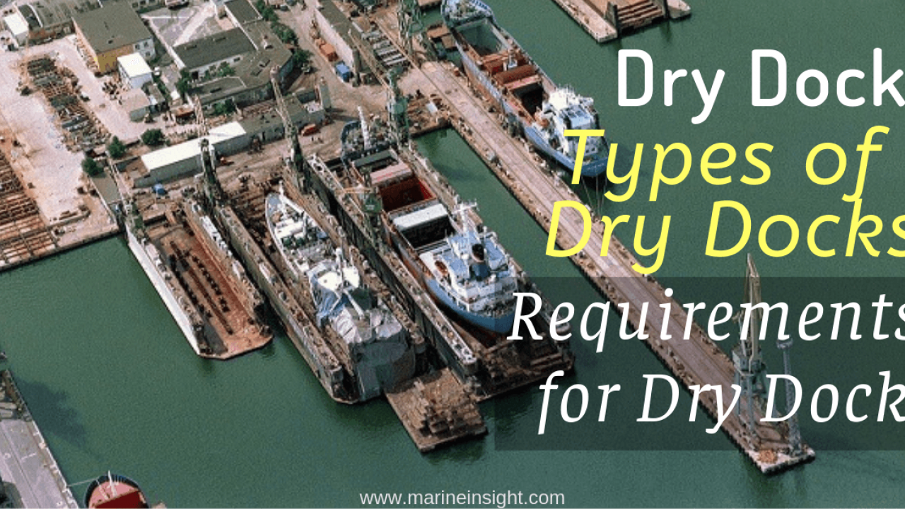 Dry Dock, Types of Dry Docks & Requirements for Dry Dock