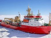 HMS Protector helps Antarctic scientists begin five-year mission to study sea levels