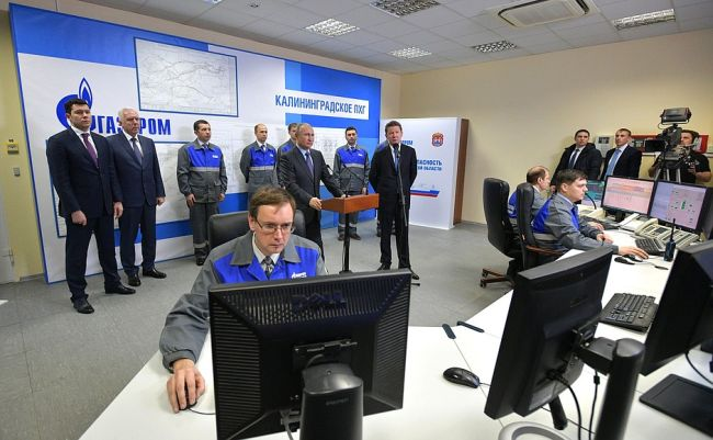 Launch of a gas-receiving terminal and floating storage regasification platform in Kaliningrad Region.