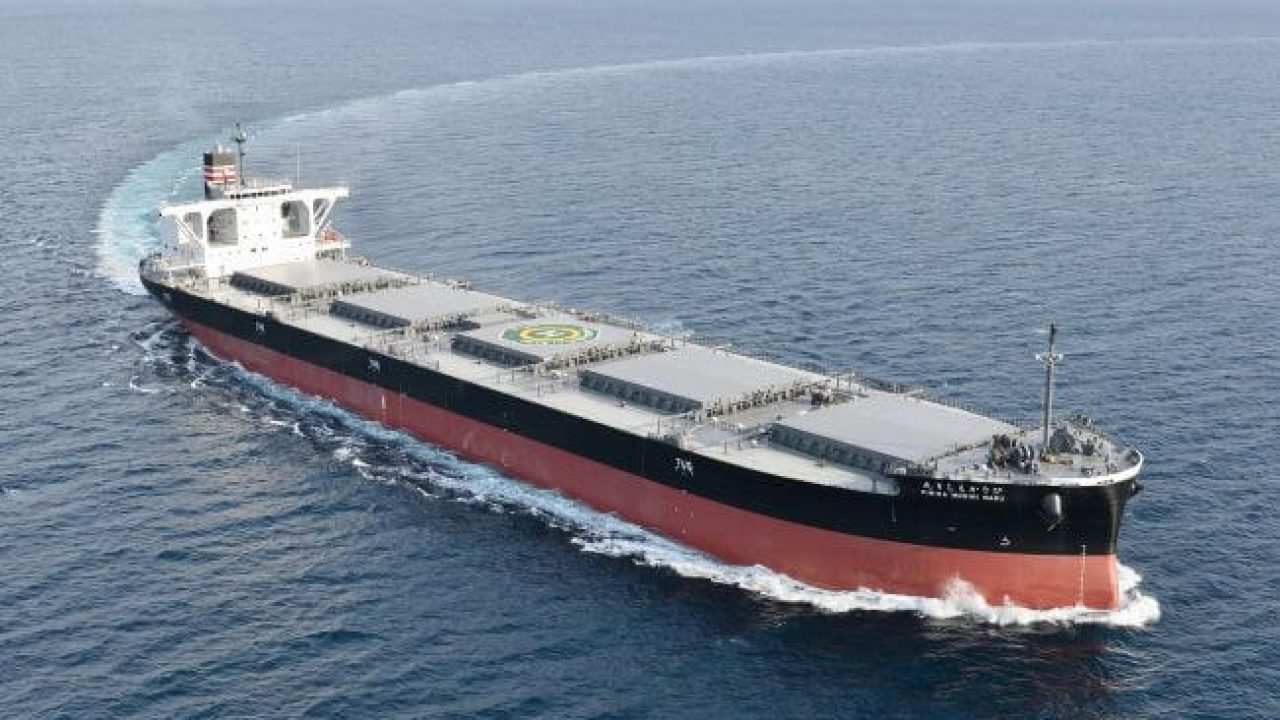 NYK Receives Delivery Of New Coal Carrier For Hokkaido