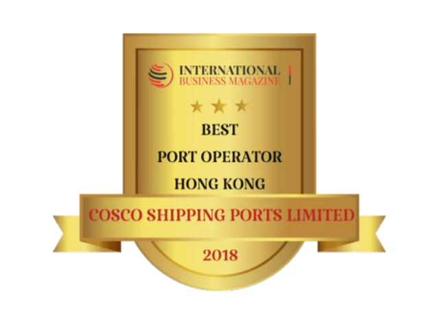 "COSCO SHIPPING Ports Named ""Best Port Operator 2018"" by International Business Magazine"