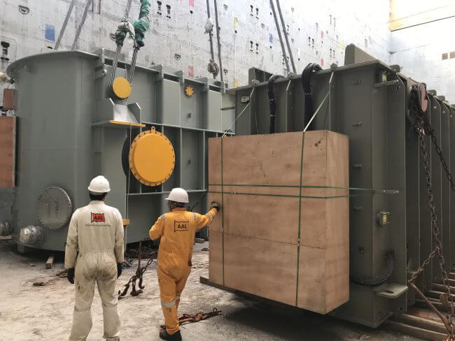 AAL Shipping Large transformer for windfarm