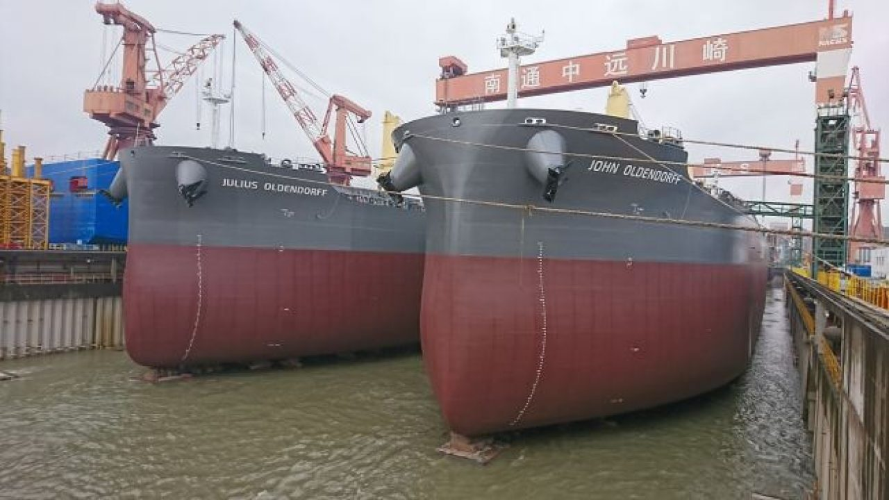 Oldendorff Carriers Receives Delivery Of Five New Eco-Ships