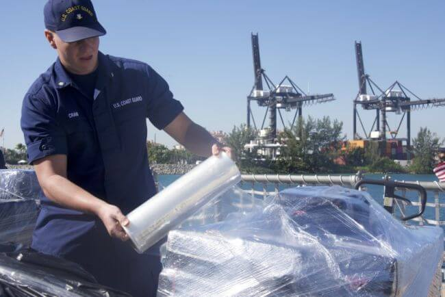 Coast Guard offloads 27,000 pounds of cocaine at Base Miami Beach