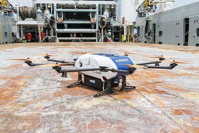 Wilhelmsen and Airbus trial world's first commercial drone deliveries to vessels at anchorage