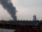 Fire in shipbreaking yard
