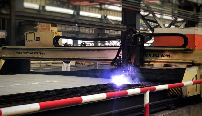 FIRST STEEL CUT ON THE OHT SEMISUBMERSIBLE VESSEL