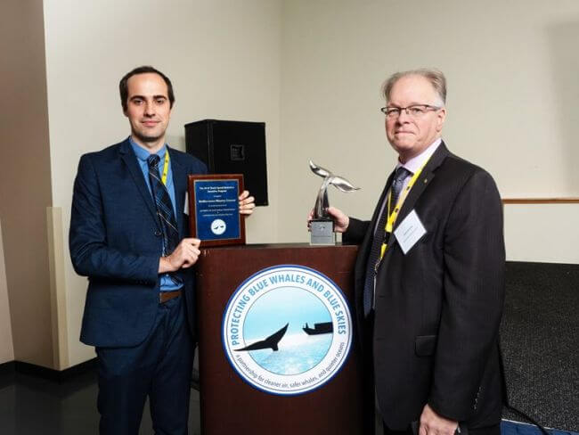 MSC RECEIVES HIGHEST AWARD FOR WORK TO PROTECT WHALES IN THE U.S