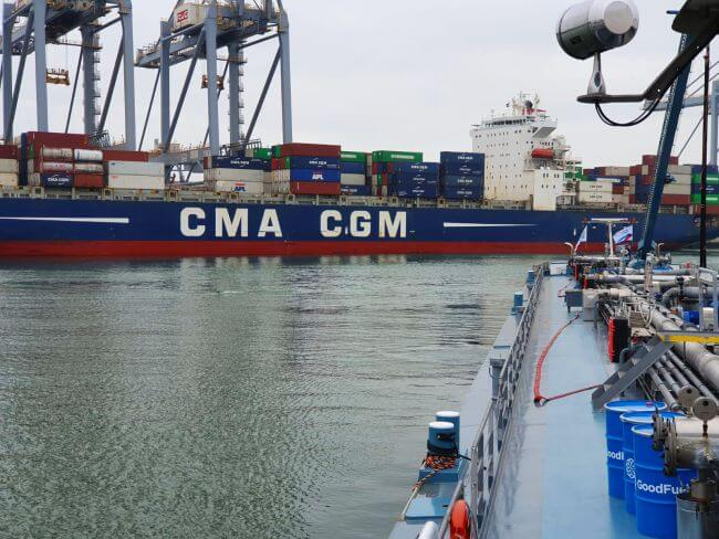 CMA CGM WHITE SHARK successfully refuels with sustainable marine bio-fuel oil in Rotterdam trial