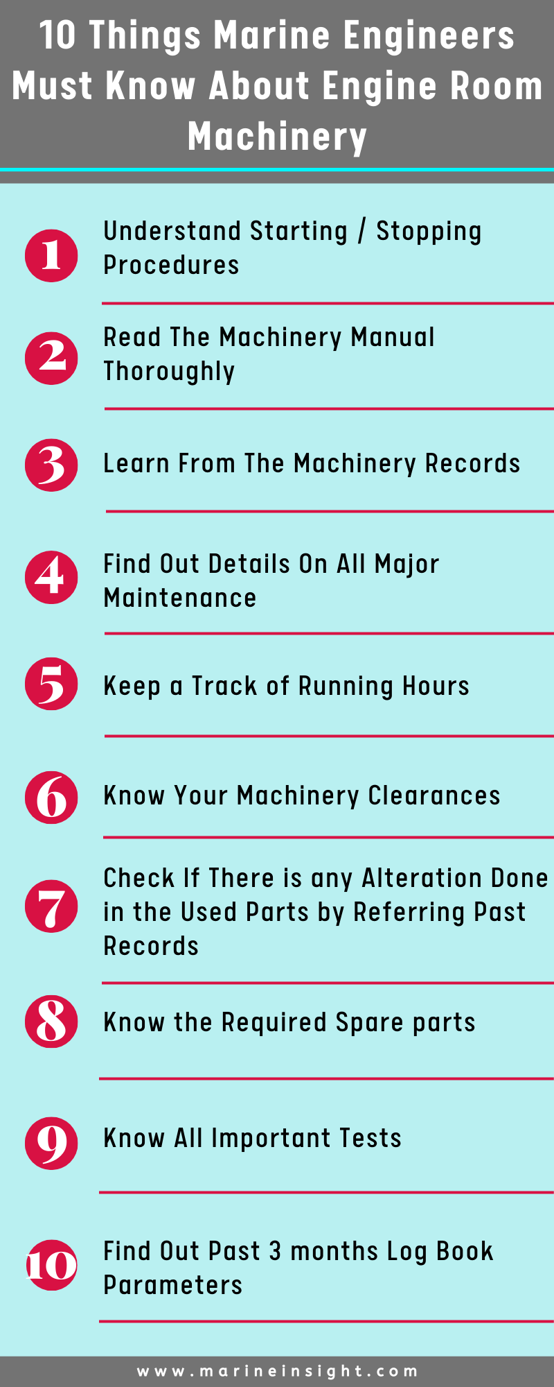 Marine Engine Room: 10 Things Marine Engineers Must Do To Know Their Machinery