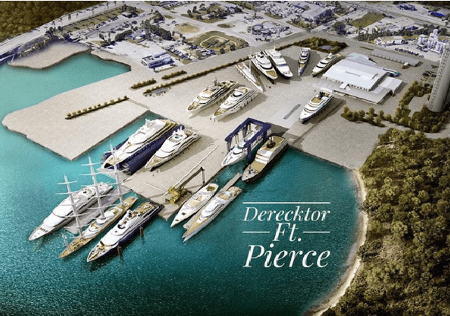 Derecktor Shipyards And St. Lucie County Sign Historic Agreement For Development Of Repair And Refit Facility At The Port Of Ft. Pierce, Florida.