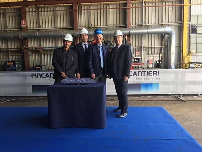 Fincantieri small cruise steel cutting