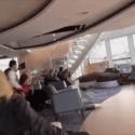 Inclined Norwegian Cruise Ship