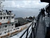 Indonasian navy ship collision vietnamese fishermen ship