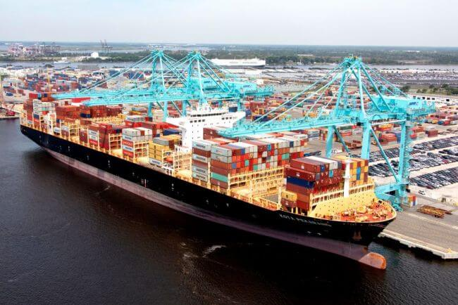 JAXPORT sets port record with largest container ship to call Jacksonville