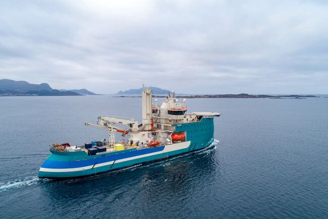 Walk-to-work Vessel Acta Centaurus Off To Work After Delivery From Ulstein Verft