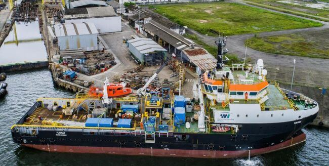 Damen_and_Wilson_Sons_complete_shallow_dive_support_vessel_conversion_in_Brazil