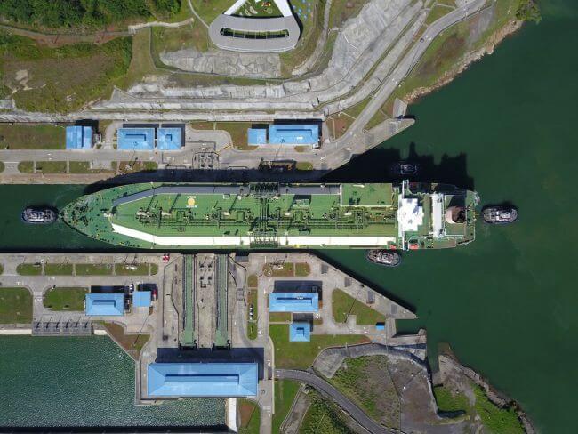 Panama Canal Largest LNG Tanker Transit