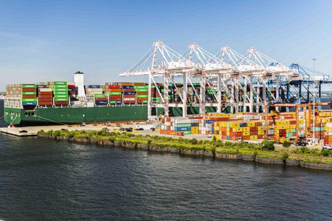 Port Of Baltimore_Largest Container ship-evergreen Triton