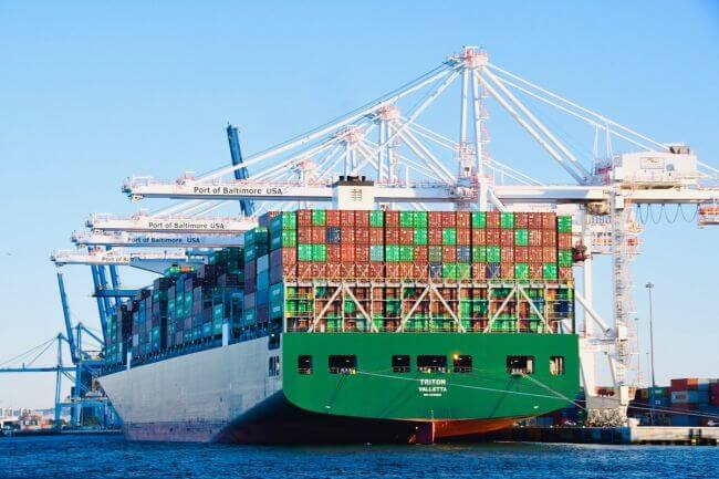 Port Of Baltimore_Largest Container ship_evergreen-Triton