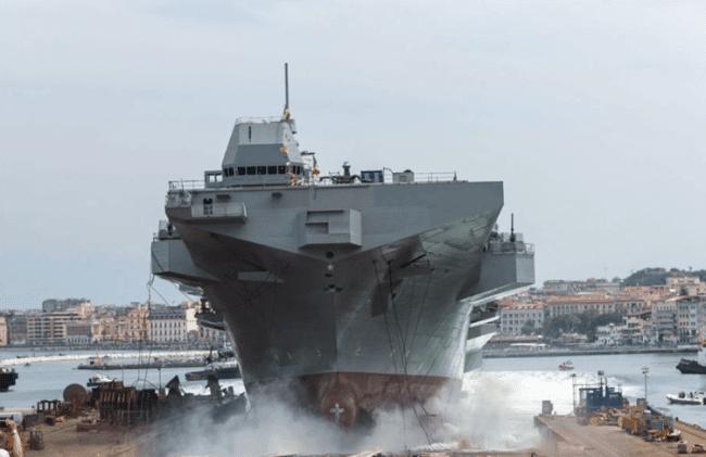 "The Multipurpose Amphibious Unit ""Trieste"" Launched In Castellammare Di Stabia"