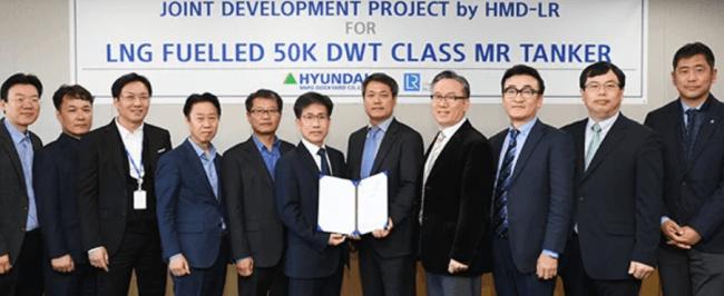 HMD receives approval from LR for LNG-fuelled MR tanker design.