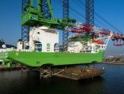 Heavy lift jack-up 'Apollo' completes refit at Damen Shiprepair Dunkerque