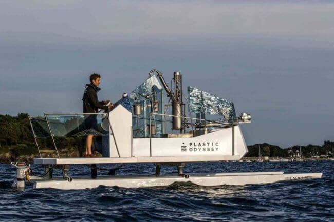 Plastic Odyssey, a catamaran project with plastic waste