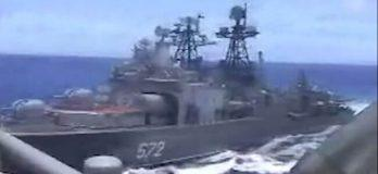 Russian Warship Closes on USS Chancellorsville