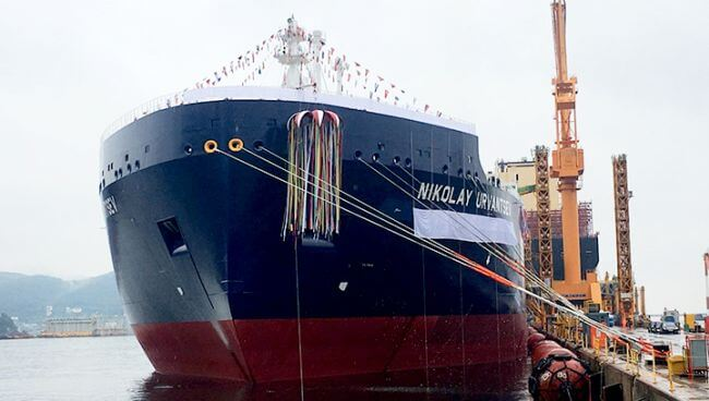 Ice-Breaking LNG Carrier for Yamal LNG Project Named NIKOLAY URVANTSEV