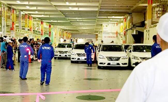 MOL Hosts Tour of Car Carrier to Celebrate Marine Day