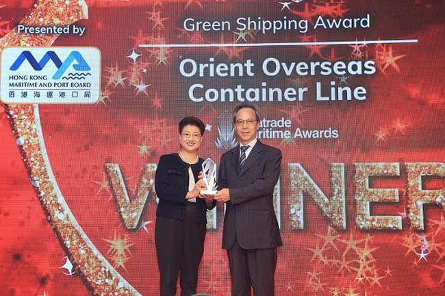 OOCL Honored with Distinguished Green Shipping Award