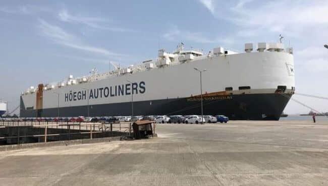 Höegh Autoliners shanghai record loading mumbai