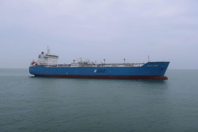 Saga Dawn gas trials success for LNT Marine