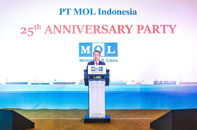 MOL Hosts Party to Celebrate 25th Anniversary of Start-up in Indonesia
