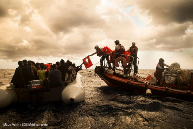 MSF search and rescue mediterranean route