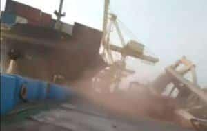 Soul Of Luck Crashes Into Gantry Crane