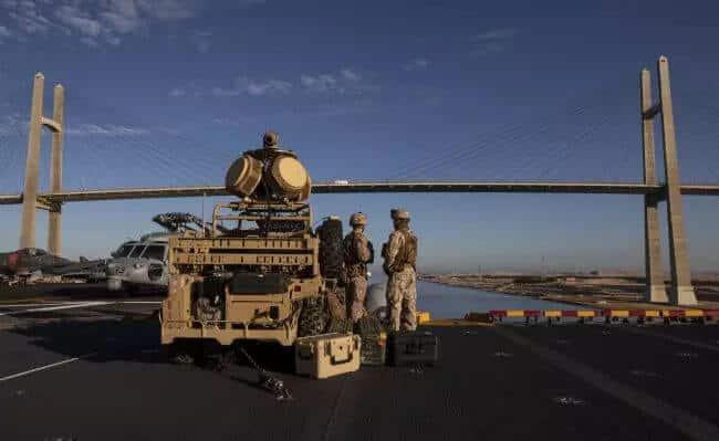 USS Boxer shoots down iranian drone